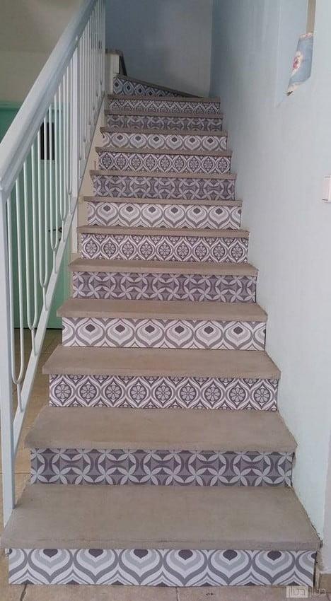מדרגות מעוצבות בגוון בז'