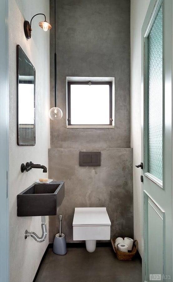 מיקרוטופינג בטון בטון חיפוי קיר בשירותים