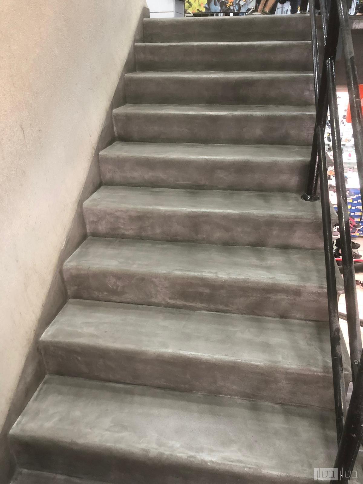 מדרגות מעוגלות פינה בחיפוי מיקרוטופינג
