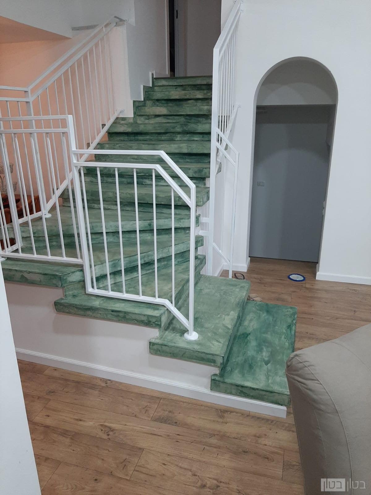 מדרגות מיקרוטופינג בצבע תכלת