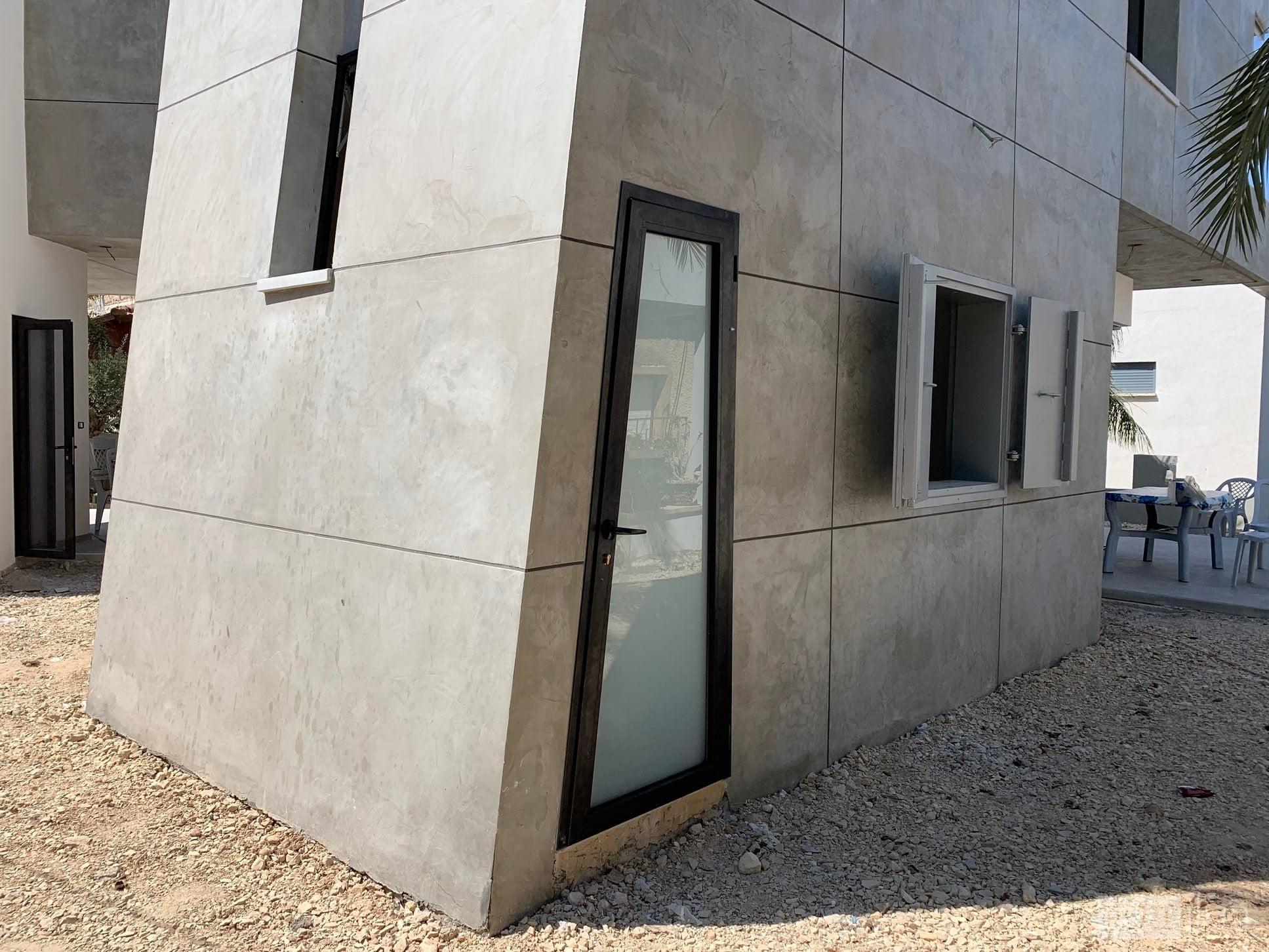 חיפוי בטון למבנה משופע או עגול