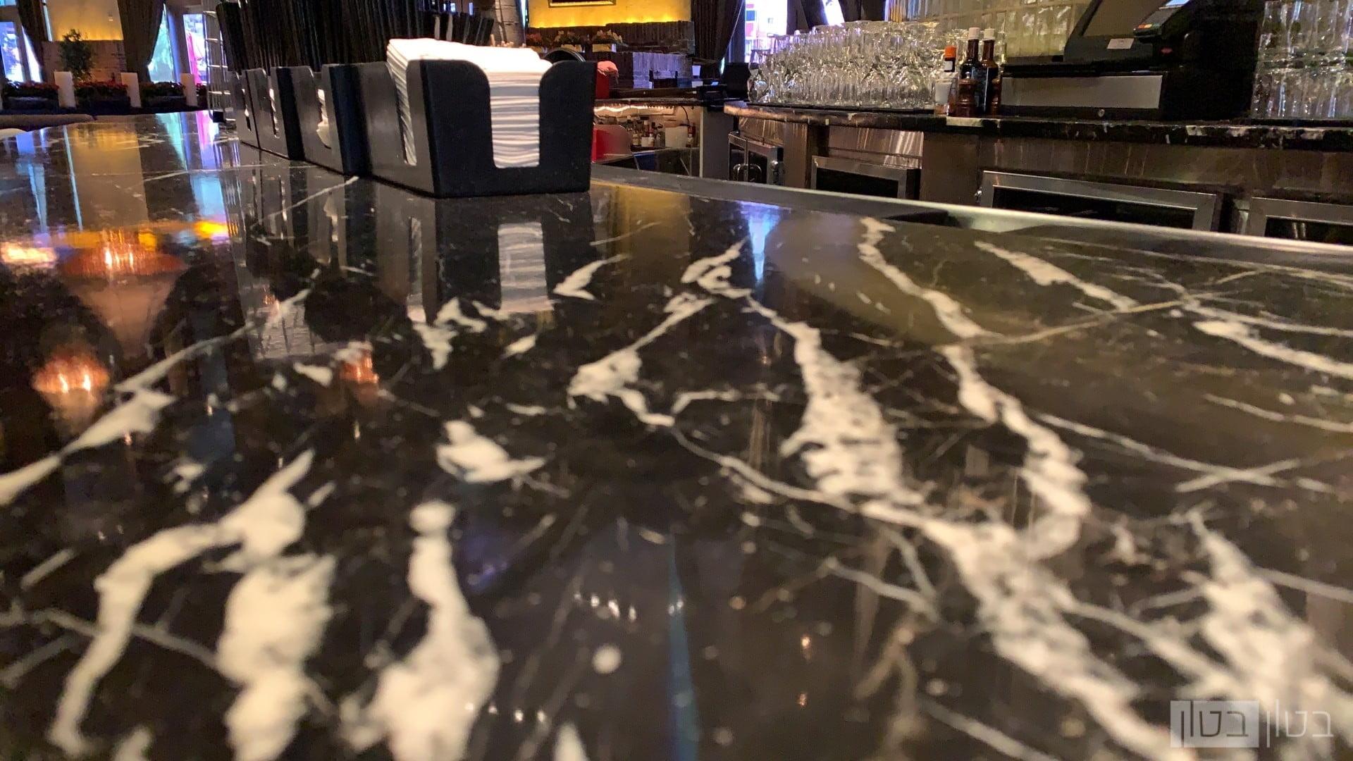 דלפק בר מסעדה מצופה באפוקסי ננו