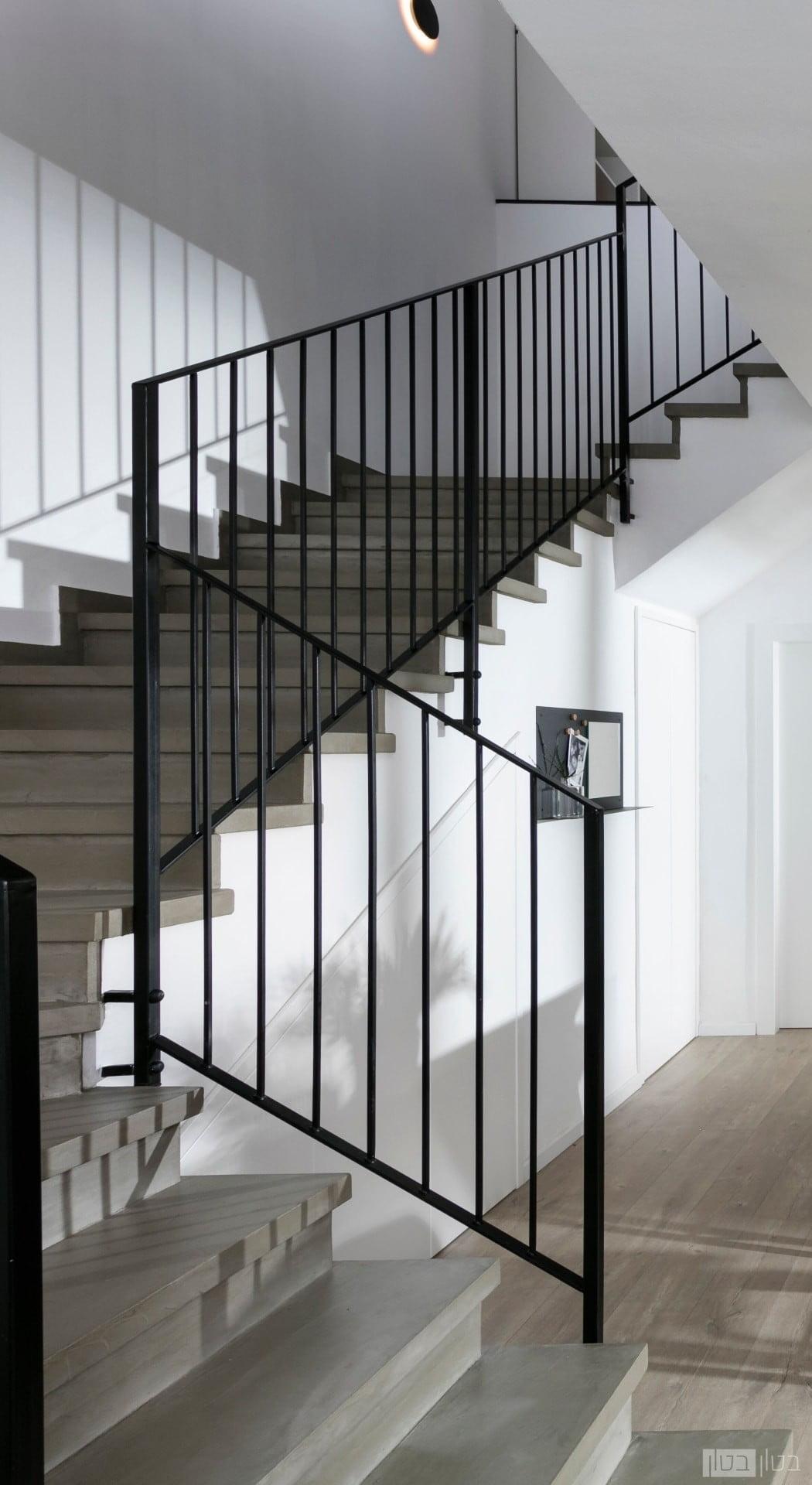מדרגות בטון מוחלקות